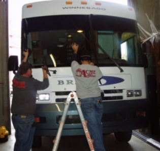 motorhome windshield and glass repair
